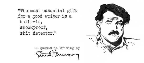 Click the image for 19 more Ernest Hemingway's quotes on writing4