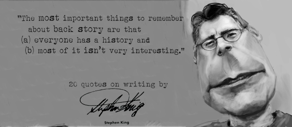 Click the image for 19 more Stephen King's quotes on writing2