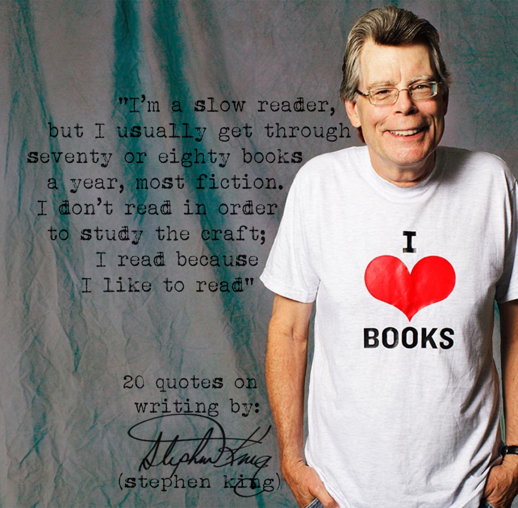 Click the image for 19 more Stephen King's quotes on writing