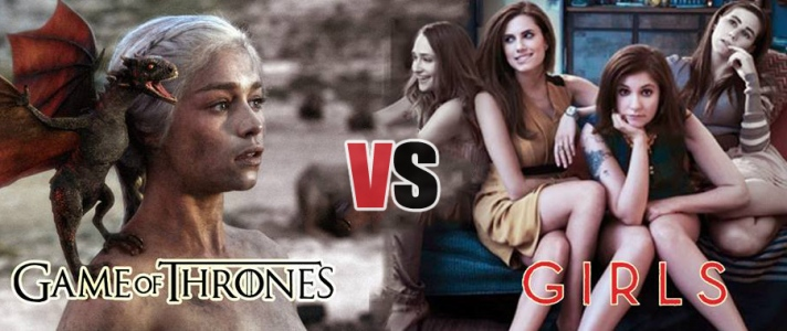 [read about] the differences and similarity between both #hbo shows. #GoT vs #Girls