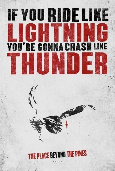 """if you ride like lightening, you're gonna crash like thunder"""