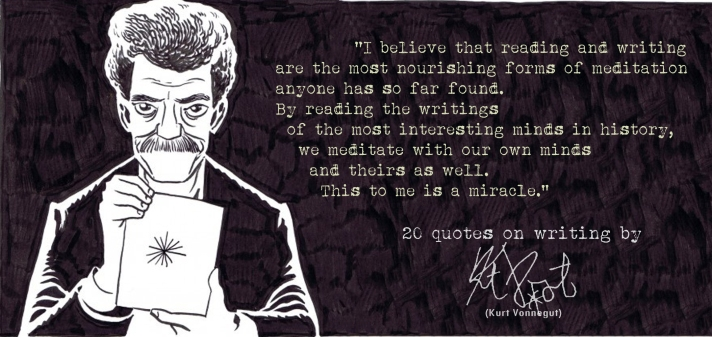 Click the image for 19 more Kurt Vonneguts's quotes on writing3