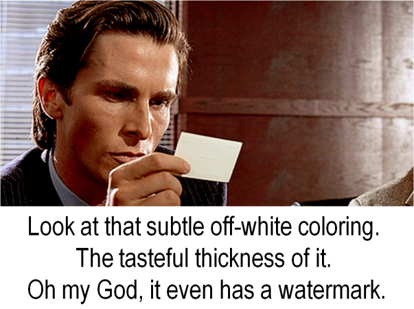 Jason Bateman, watermark, american psycho, business card