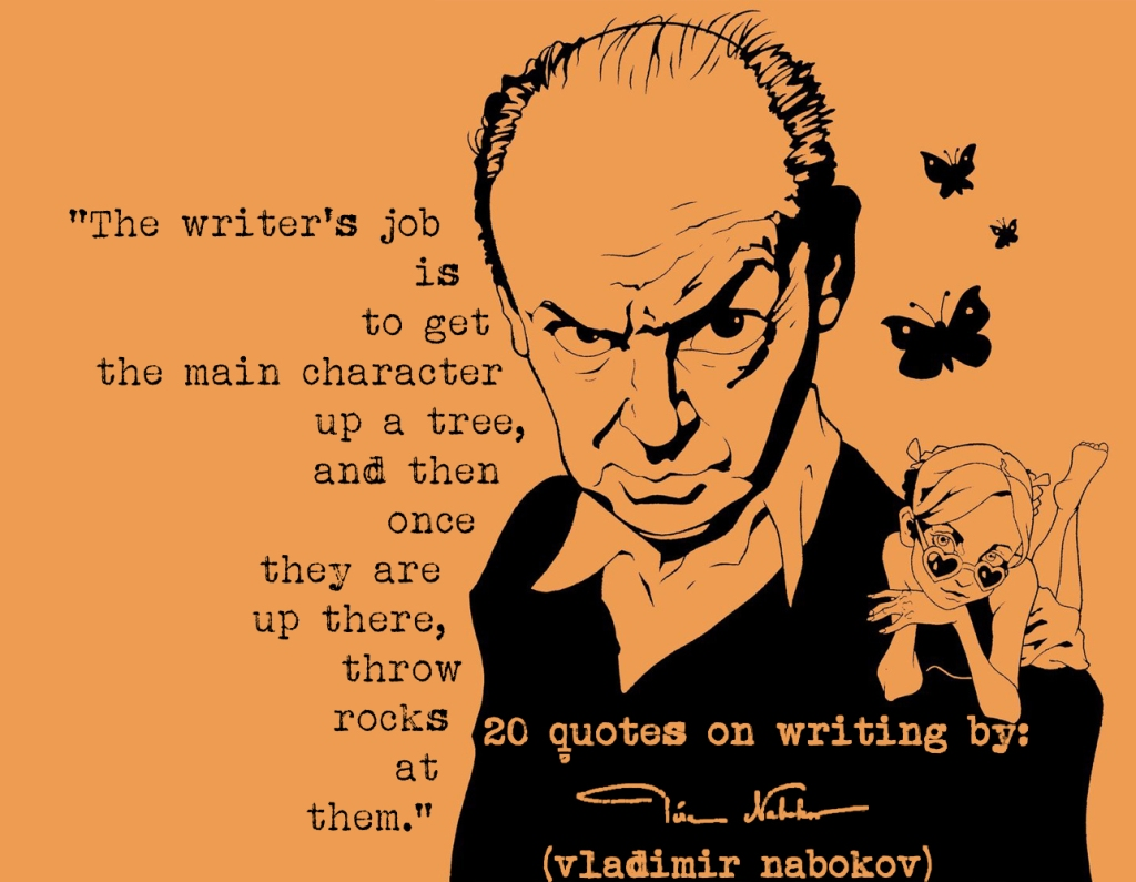 (Click the image) for 20 Vladimir Nabokov's quotes on writing