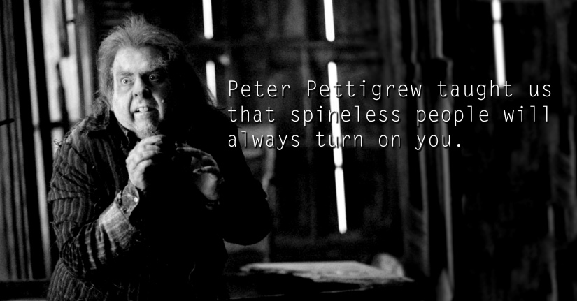Lord Peter Pettigrew - See the 30 Things That Harry Potter taught us