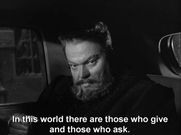 "[read the review] of Orson Welles ""Mr. Arkadin"""