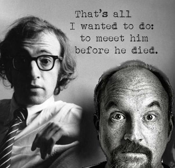 Louie CK with Woody Allen: Blue Jasmine