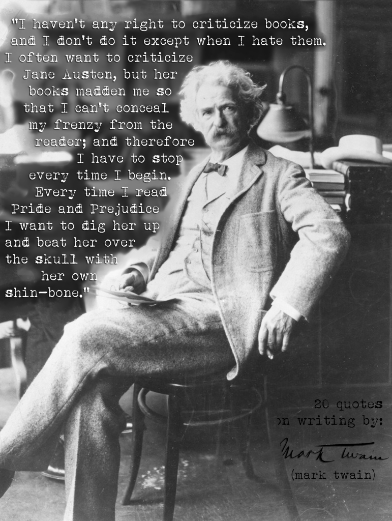 (Click the image) for 20  Mark Twain's quotes on writing