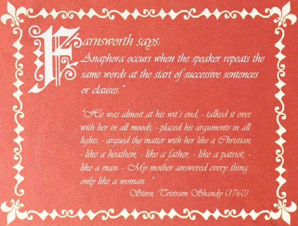 Farnsworth says - Anaphora 2